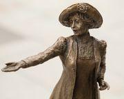 Hazel Reeves MRBS FRSA SWA : Emmeline Pankhurst maquette (detail)