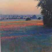Andrew Gifford Late Summer Cornfield Kent: Dusk