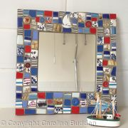 Square Mirror with Nautical Theme