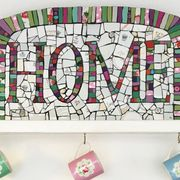 HOME mosaic sign
