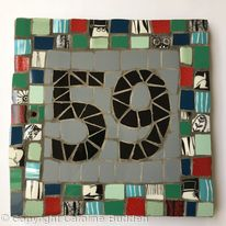 Mosaic House Number 59 in mid-century colours
