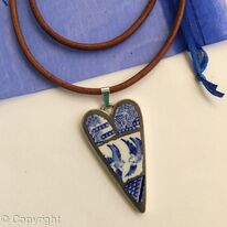 Willow Heart Mosaic Pendant