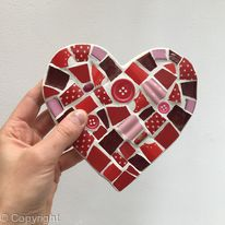 Red Mosaic Heart