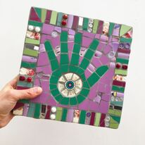 Lucky Hand-purple and green