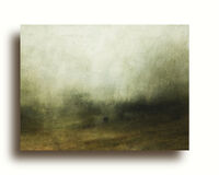 Sparse land | Oil on Paper