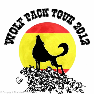 Wolf Pack tee design