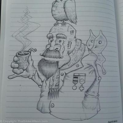 God of Wisdom - Biro sketch