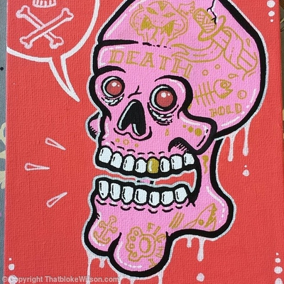 Skull mini canvas