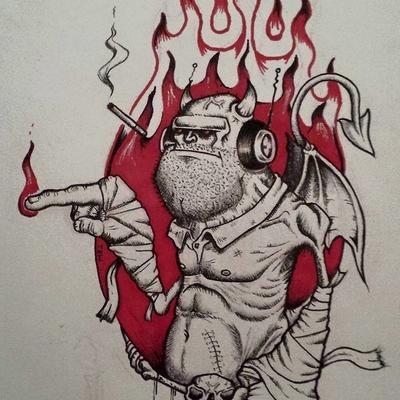 Demon loves his tunes