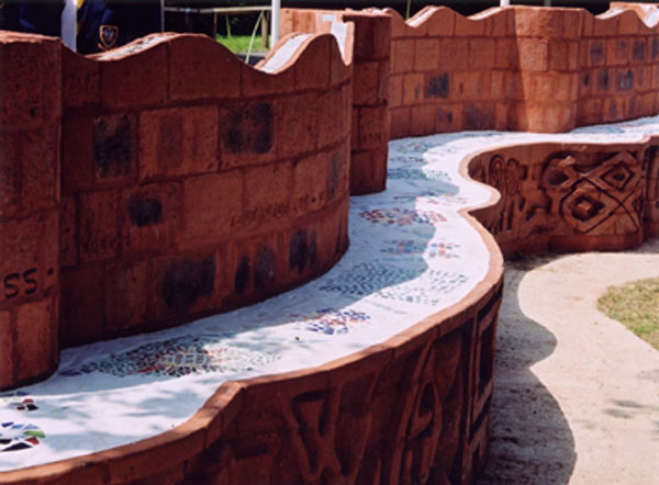 Gaudi Inspired Bench Seat - Detail