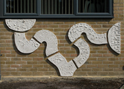 Cast Relief tiles at Merdon Junior school.