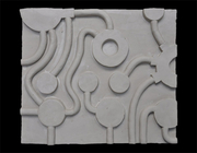 Whiteley Bench Seat - panel relief model 5