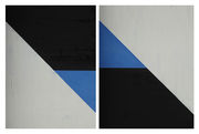 Blue triangle Diptych