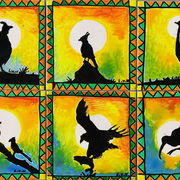 African Bird ceramic tile coasters