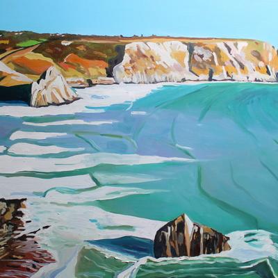 High Tide at Three Cliffs Bay