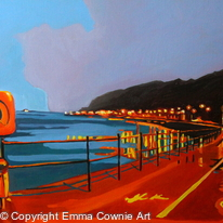 Mumbles Promenade in The Blue Hour