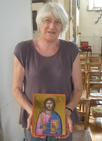 Completed Christ Icon July course