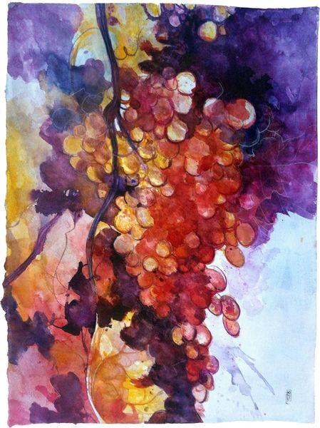 La grande ciocca d'uva