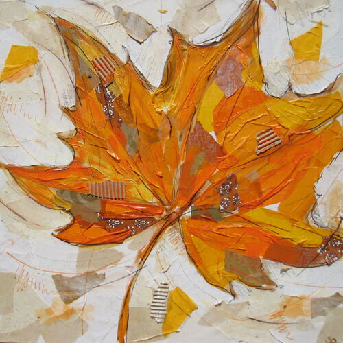 Fall Leaves Painting Acrylic