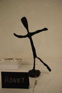 Figure sculptures inspired by Giacometti