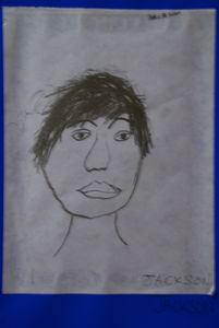 portraid studie by 8 year old child
