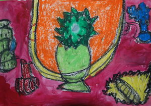 still life copy of Matisse by 7years old child