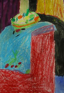 still life study by 8year old child