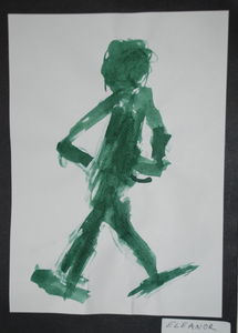 figure studie by 8 years old child