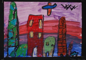 land scape by 7 years old