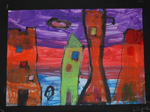 landscape by 7 years old child