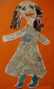 figure collage by 6 year old