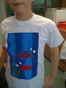 screen print T-shirt by 7 years old