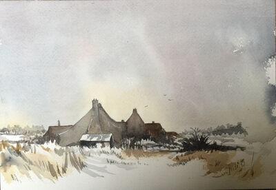 Norfolk in winter watercolour