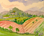 watercolour-farming-in-umbria