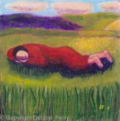 Sleeping in the green  by Debbie Perry