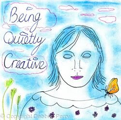 Debbie Perry Art/Being Quietly Creative Logo