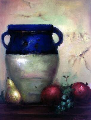 Mediterranean Vase and Fruit