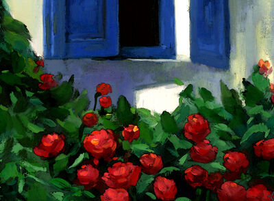 Blue Window Roses