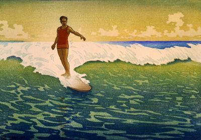 Hawaii Surf Sunset