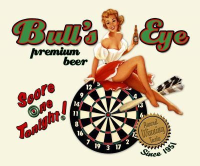 Bulls Eye Darts Beer