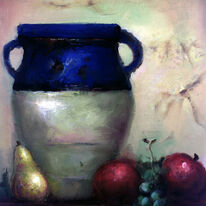Mediterranean Vase and Fruit