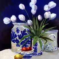 Blue Delft Tulips