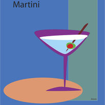 Martini in Blue