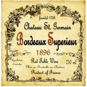 Bordeaux Wine Label
