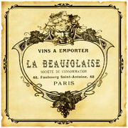Beaujolaise Wine Label