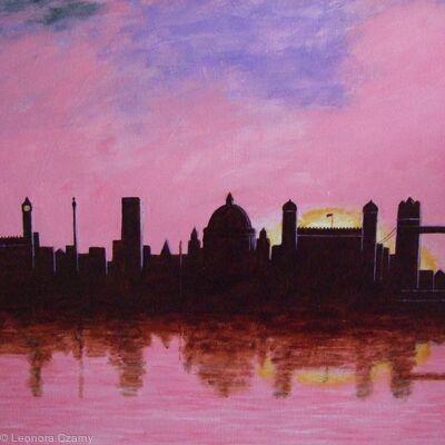 London Skyline at Sunset