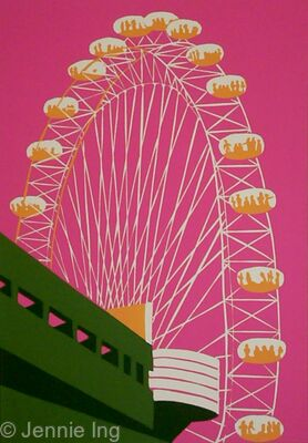 The London Eye (on pink)