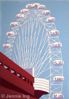 The London Eye (on blue)