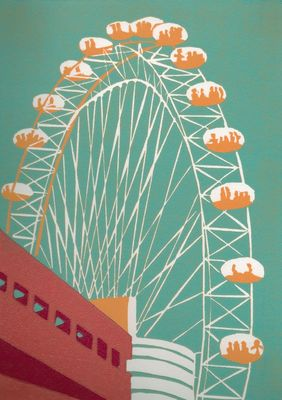 The London Eye (teal)