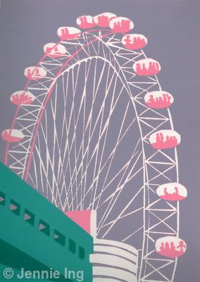 The London Eye (mauve)